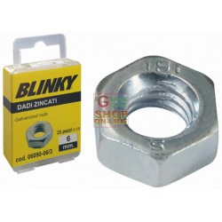 BLINKY-STEEL NUTS, ZINC PLATED BLISTER MM. 5