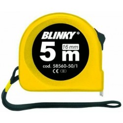 BLINKY TAPE MEASURE ABS WITH BLOCK TAPE MM 16 MT. 5