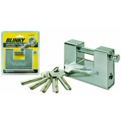 BLINKY PADLOCK BURGLAR-PROOF ROLLING SHUTTERS, ARMORED CYLINDER EURO MM. 90