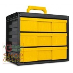 CHEST OF DRAWERS MODULAR CARGOSYSTEM 3 WITH 3 DRAWERS CM. 35,5X23,5X30,3H.