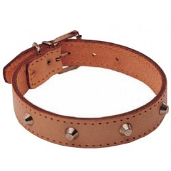 COLLAR LEATHER WITH STUDS MM. 35