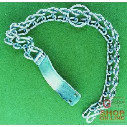 COLLAR FOR DOGS WITH THE LADDER IN GALVANIZED IRON MEDIUM TYPE CM. 40