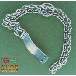 COLLAR FOR DOGS WITH THE LADDER IN GALVANIZED IRON MEDIUM TYPE CM. 50