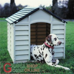 KENNEL FOR MEDIUM DOGS PLASTIC PVC CM.78x84x80h. REMOVABLE GREEN