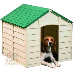 DOG KENNEL PLASTIC PVC CM. 72X71X68H. SOMTABILE GREEN