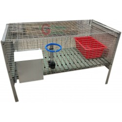 CAGE FOR RABBITS FOR FATTENING WITH A NETWORK ANTITOPO CM.100