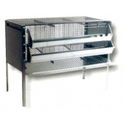 CAGE FOR HENS HEN 9 SEATS WITH A SLIDE FOR THE RACCOLATA EGGS
