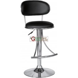 STOOL FOR THE COUNTER AGENT URBAN MODEL BLACK GAS LIFT