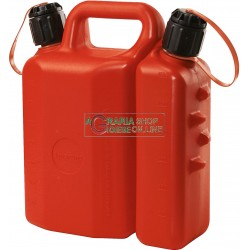 TANK FOR FUEL TRANSPORT GASOLINE OIL MIXTURE TWICE THE USE FOR CHAINSAW APPROVED