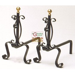 ANDIRONS WROUGHT IRON ART.304L/627 GREAT