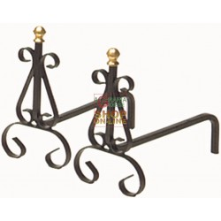 ANDIRONS WROUGHT IRON ART.626 AVERAGE