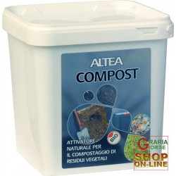 ALTEA COMPOST ACTIVATOR A NATURAL FOR THE COMPOSTING OF VEGETABLE RESIDUES KG. 3,5