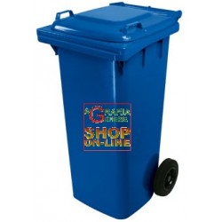 BIN GARBAGE SQUARE WITH WHEELS LT. 120 BLUE