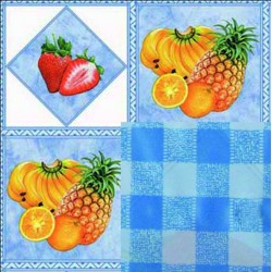 BLINKY TABLECLOTH, DOUBLE-FACE FRUIT-TROPIC MT. 1,4 X 30