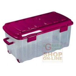 BOX, THE VOYAGER PLASTIC WITH COVER WHEELS AND HANDLE LT. 70