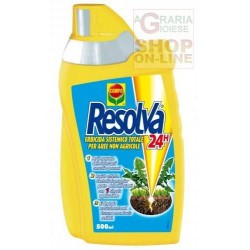 COMPO RESOLVA 24H SYSTEMIC HERBICIDE TOTAL FOR NON-AGRICULTURAL AREAS BASED ON GLYPHOSATE AND DIQUAT ML. 0,500