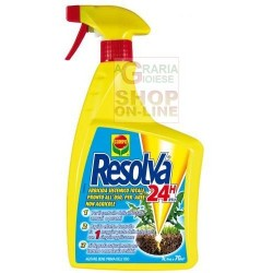 COMPO RESOLVA 24H RTU WEEDKILLER SPRAY READY TO USE SYSTEMIC TOTAL FOR NON-AGRICULTURAL AREAS BASED ON GLYPHOSATE AND DIQUAT