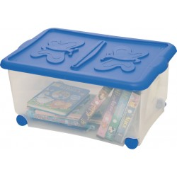 CONTAINER WITH WHEELS AND LID CM.60X40H28