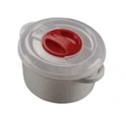 PLASTIC CONTAINER FOR MICROWAVE WITH VALVE LT. 0,500