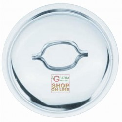 COVER THE POT CALDAINO WITH HANDLE IN POLISHED STAINLESS STEEL CM. 22
