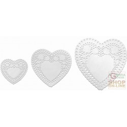 FACKELMANN 3 SOTTOTORTA PAPER IN THE SHAPE OF A HEART. 95X105 MM 145 TO 155MM 200X200 MM ART. 43520