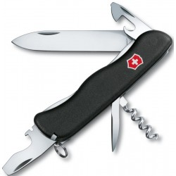 VICTORINOX MULTI-PURPOSE NOMAD BLACK WITH LOCK BLADE SAFETY 0.8353.3