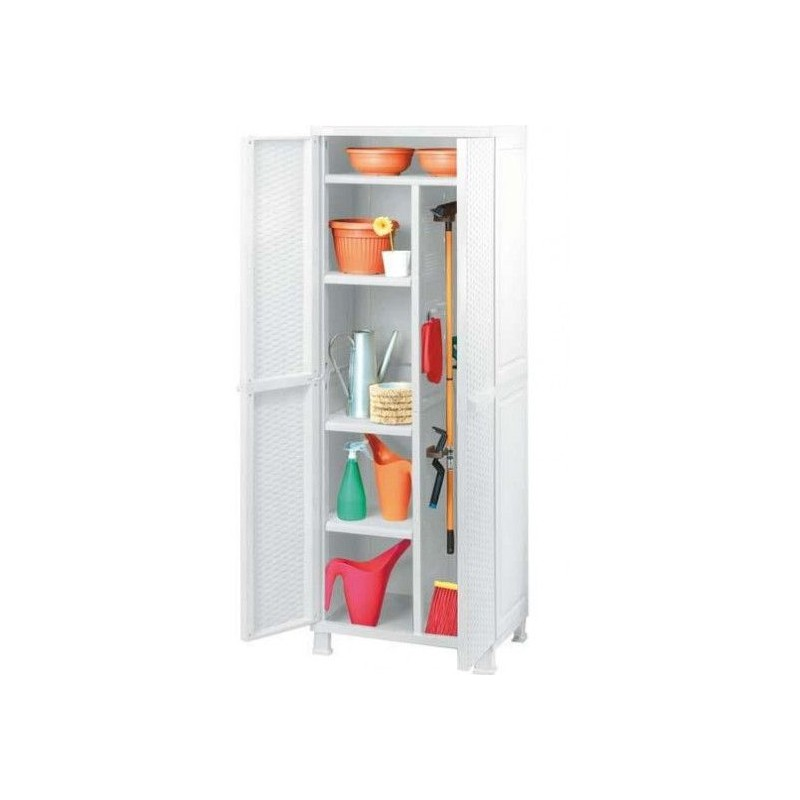Armadio Keter Portascope.Keter Cabinet The Four Shelves Cm 65x45x184h Broom White