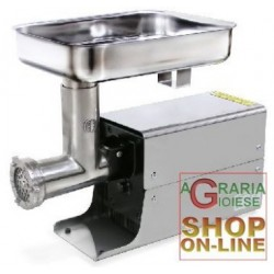 LEONARDI MEAT MINCER ELECTRIC WITH BOX, STAINLESS STEEL 12 HP. 0,5