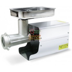 LEONARDI meat GRINDER ELECTRIC PROFESSIONAL N. 22 HP. 1 WATT 750 TINNED WITH BOX, STAINLESS STEEL
