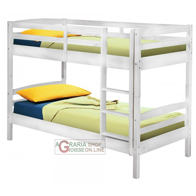 Bunk Bed With Conversion Into 2 Single Beds Cm 200x102x148h White