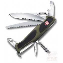 VICTORINOX WENGER RANGERGRIP 179 PILLOWS GREEN BLACK KNIFE MM 130 0.9563.MWC4