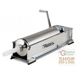 REBER VACUUM FILLER FOR SALAMI STAINLESS STEEL 2 SPEED KG. 10, WITH CARTER PROTECTIVE GEAR