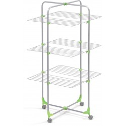 DRYING RACK TO TOWER 3 PIECE MERCURY WITH FOLDING WHEELS