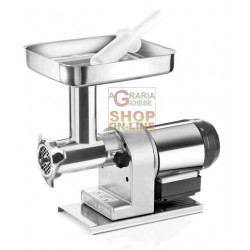 TRE SPADE meat GRINDER ELECTRIC No. 12 STAINLESS steel 160 ELEGANT WATTS. 480 BODY AND MOTOR IN STAINLESS STEEL
