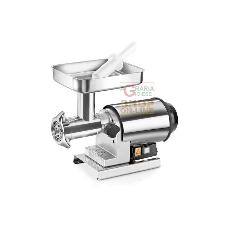 TRE SPADE meat GRINDER ELECTRIC No. 22 STAINLESS steel-80 HP. WATTS. 600, FULLY STAINLESS STEEL