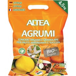 ALTEA CITRUS ORGANIC FERTILIZER GRANULAR ORGANIC CITRUS, KIWI AND CYCAS KG. 1,5