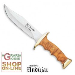 ANDUJAR BOWIE STAINLESS STEEL BLADE CM. 17 HANDLE IN OLIVE CS A0632