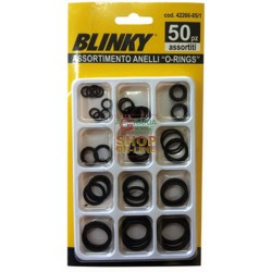 ASSORTMENT RINGS RUBBER O-RINGS STD. 50 PIECES