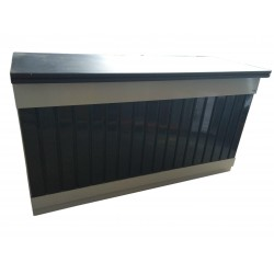 SALES DESK COUNTERTOP METAL SHELF WITH WOODEN CM. 200