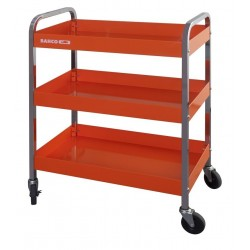 BAHCO TOOL TROLLEY WITH WHEELS, 3 SHELVES