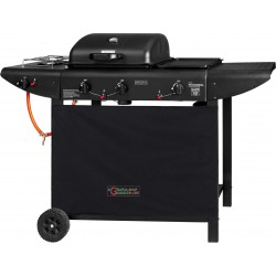 GAS BARBECUE WITH LAVA STONE COOKING STOVE AND A CAST-IRON PLATE MOD. ER8206C-1