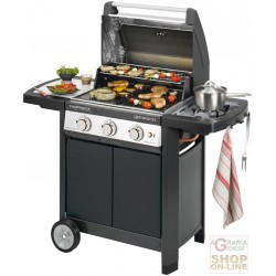 BARBECUE CAMPINGAZ GAS GENESCO 3 CLASSIC DELUX L GRID AND PLATE IN CAST IRON KW. 17,5