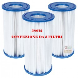 BESTWAY 3 CARTRIDGE FILTERS 3 FOR PUMP 5.678 LT/H COD. 58012 ORIGINAL