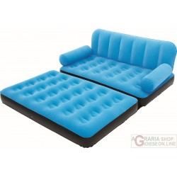 BESTWAY SOFA FLOCKED INFLATABLE CM.188X162X54 WITH THE PUMP MOD. 67356