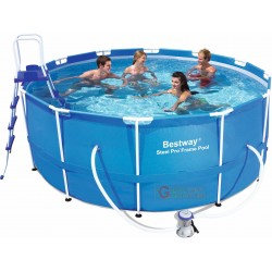 BESTWAY 56418 SWIMMING POOL SELF-SUPPORTING WITH FRAME CM. 366x100h
