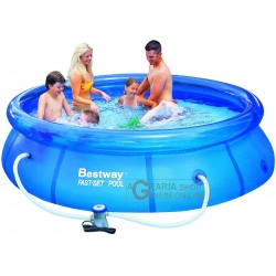 BESTWAY SWIMMING POOL SELF-SUPPORTING, ROUND CM. 305x76h WITH the FILTER-PUMP MOD.57109