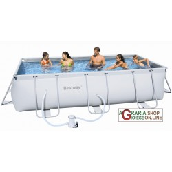 BESTWAY SWIMMING POOL WITH SELF-SUPPORTING FRAME WITH PUMP FILTER CM. 404x201x100h. MOD. 56251