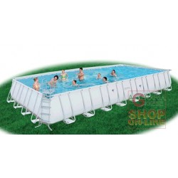 BESTWAY SWIMMING POOL WITH SELF-SUPPORTING FRAME WITHOUT THE PUMP FILTERING CM. 956X488X132 MOD. 56338