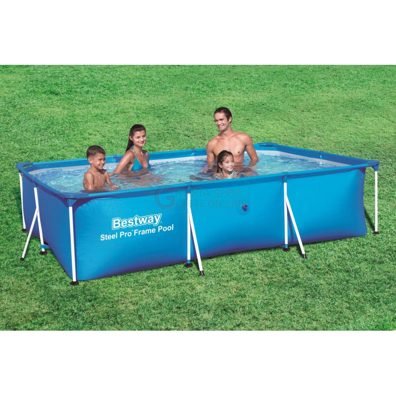 BESTWAY 56404 SWIMMING POOL WITH A RECTANGULAR FRAME CM. 300x201x66h. -  antonio de caria