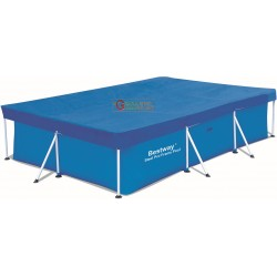 BESTWAY 58106 CLOTH TOP POOL COVER RECTANGULAR CM. 300 X 201